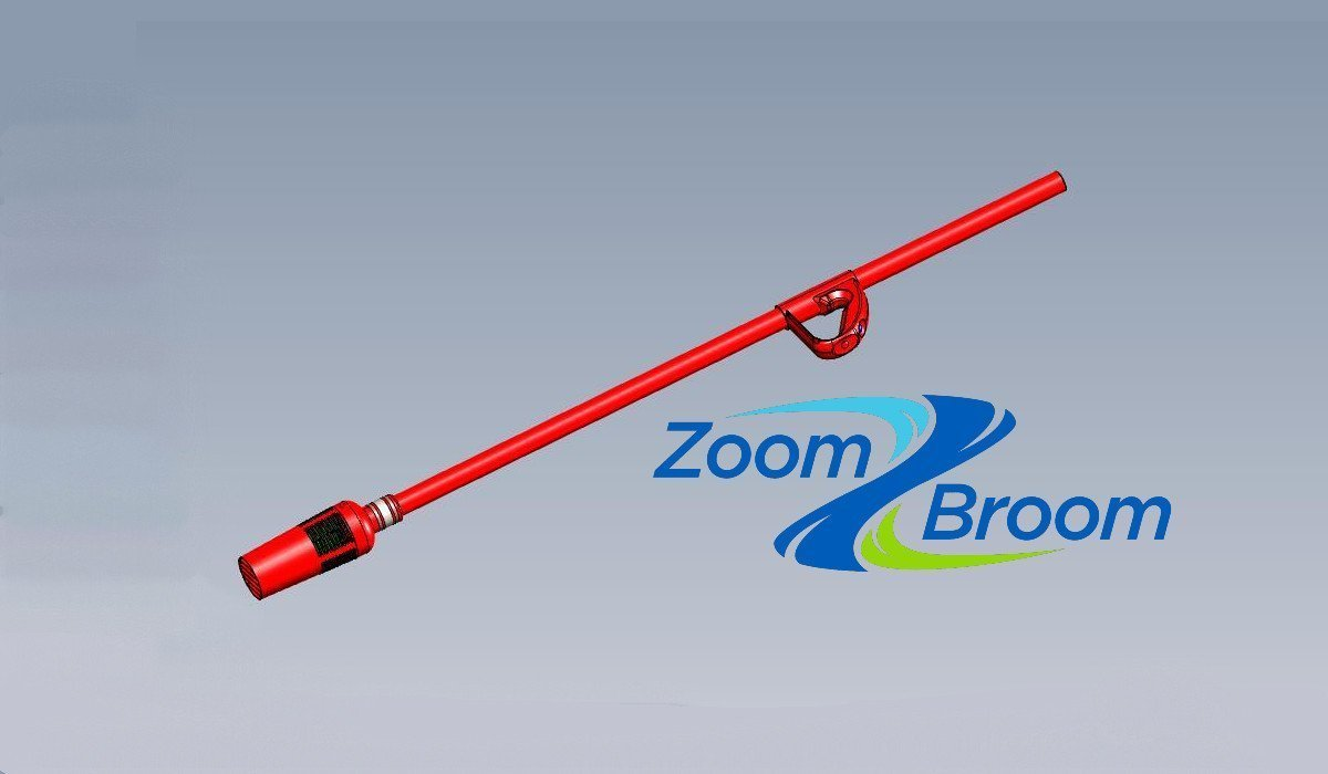 An image of the ZoomBroom Tornado next to the Zoom Broom logo.